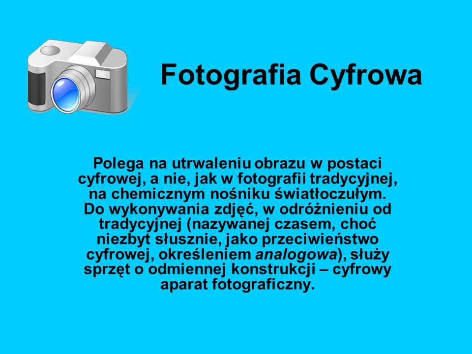 Utrwalenie obrazu w aparatach cyfrowych odbywa się poprzez pomiar jasności poszczególnych pikseli (punktów) matrycy, na którą pada światło poprzez obiektyw.