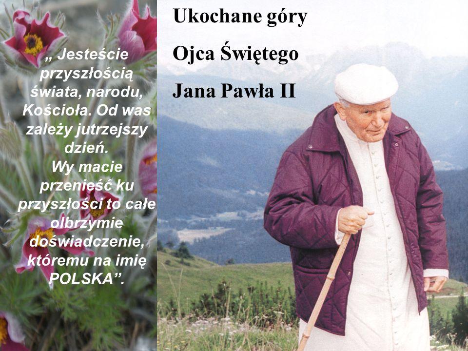 Ukochane góry Ojca Świętego Jana Pawła II Jesteście przyszłością świata, narodu, Kościoła. Od was zależy jutrzejszy dzień. Wy macie przenieść ku przys