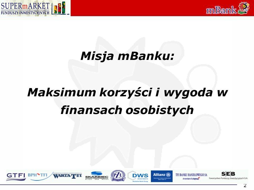 2 Misja mBanku: Maksimum korzyści i wygoda w finansach osobistych