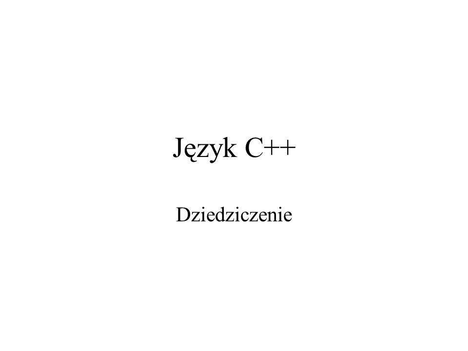 Język C++ Dziedziczenie