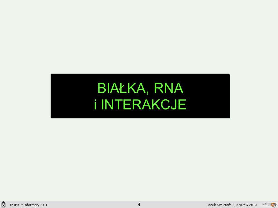 BIAŁKA, RNA i INTERAKCJE 4 Jacek Śmietański, Kraków 2013Instytut Informatyki UJ
