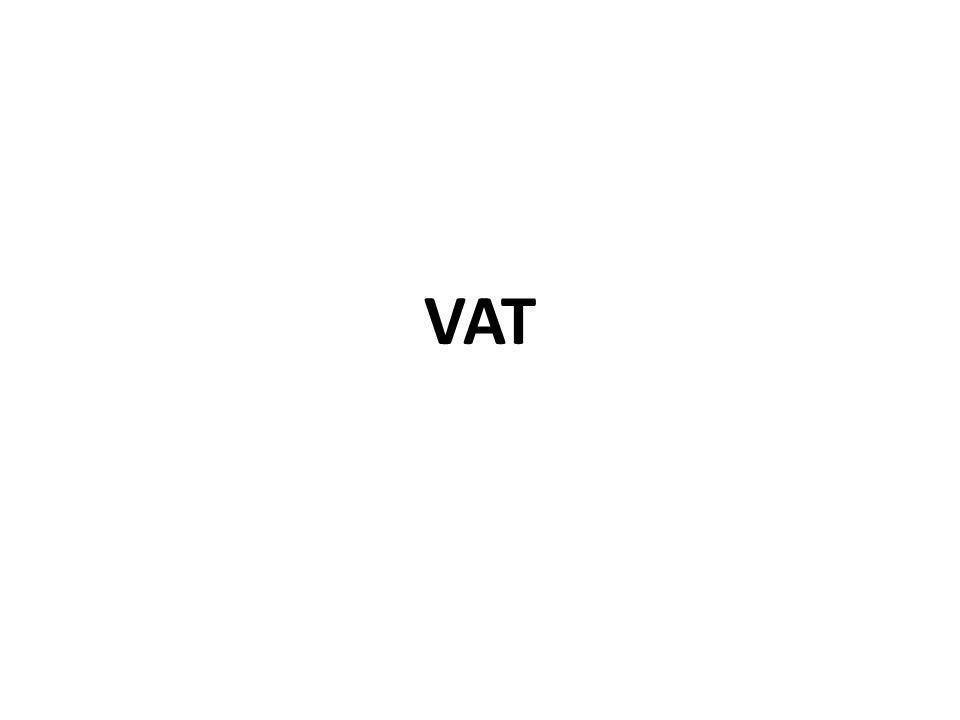 Stawka VAT Stawka podstawowa – 22% (w okresie przejściowym – 23%) Stawki obniżone – 7% (w okresie przejściowym – 8%), 5%, 0%.