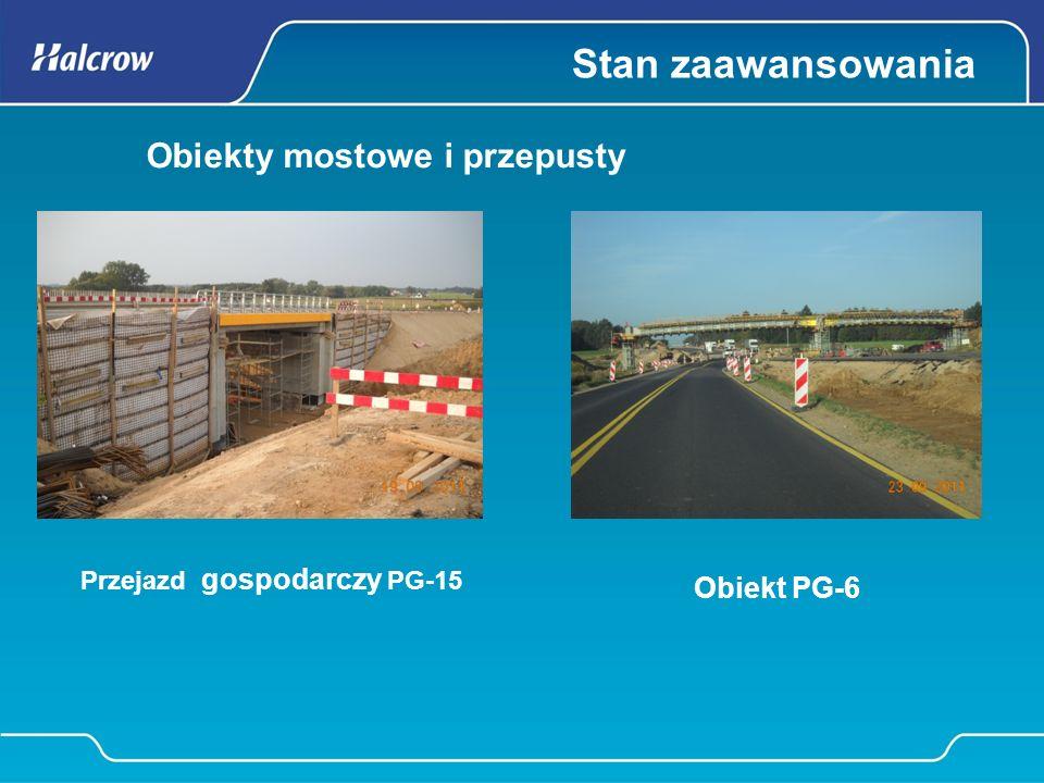 Obiekty mostowe i przepusty Stabilizacja gruntu cementem Zbrojenie płyty obiektu WD-8 w Radulach Obiekt PG-12