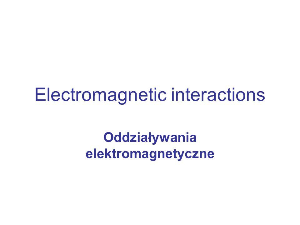 Electromagnetic interactions Oddziaływania elektromagnetyczne