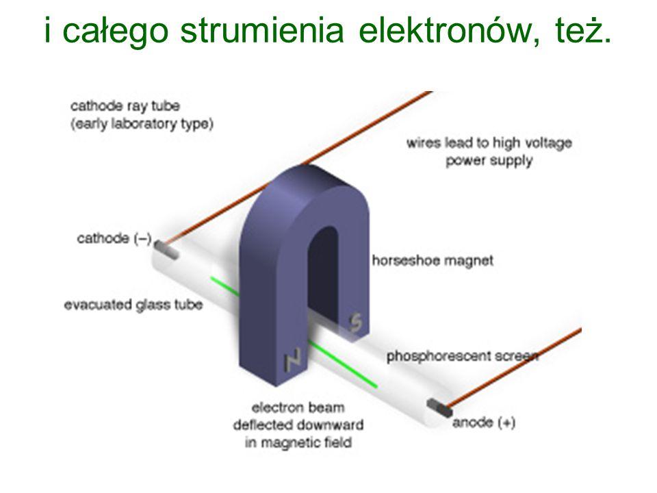 i całego strumienia elektronów, też.