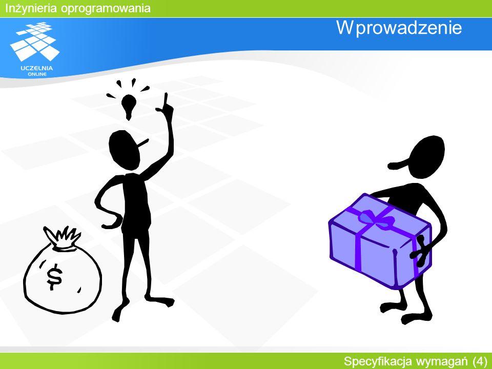 Inżynieria oprogramowania Specyfikacja wymagań (15) Wprowadzenie W momencie kiedy spiszemy wymagania, klient dostanie dokładnie to, czego potrzebuje 2.