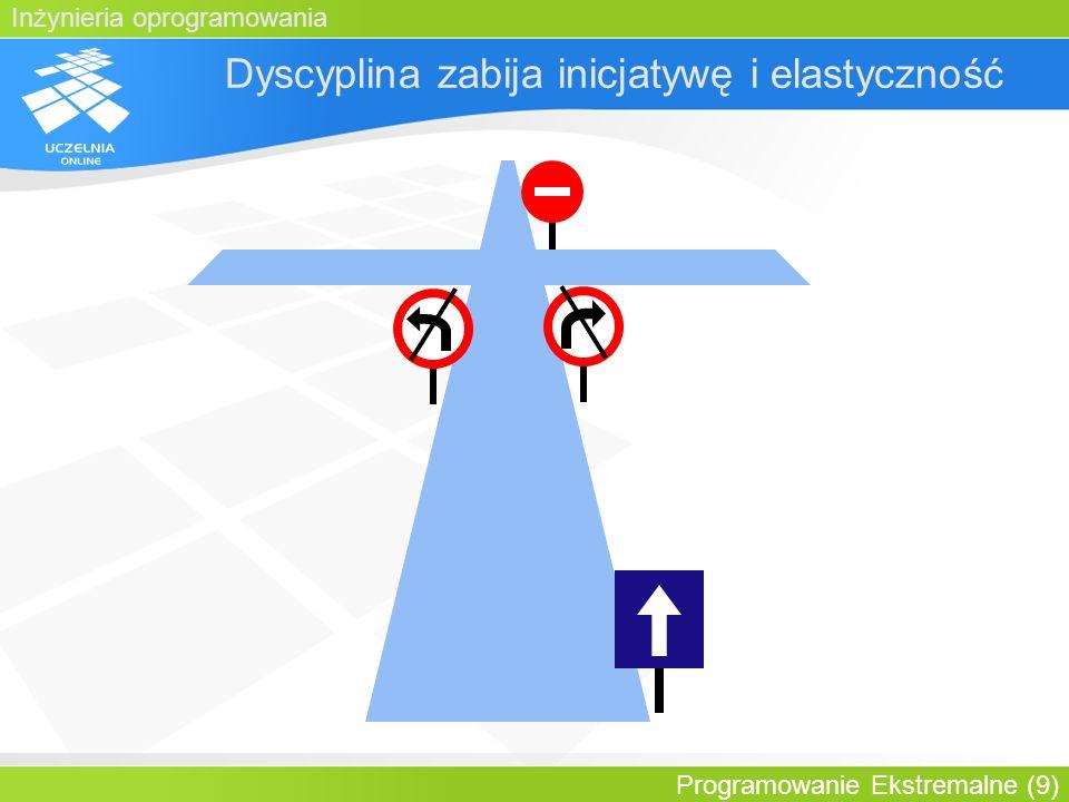 Inżynieria oprogramowania Programowanie Ekstremalne (9) Dyscyplina zabija inicjatywę i elastyczność