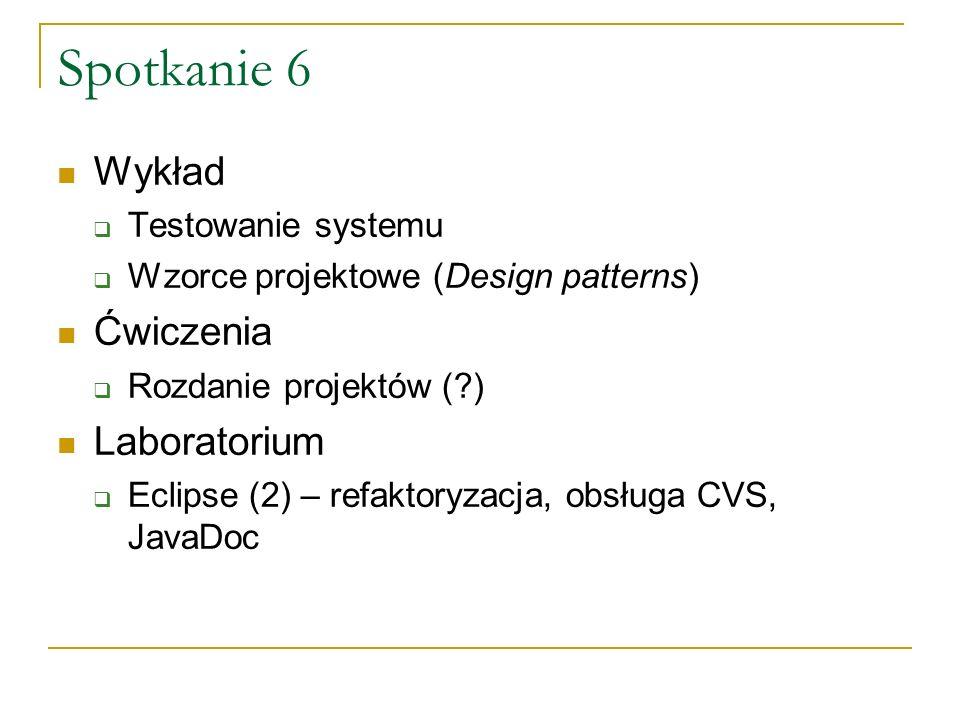 Spotkanie 7 Wykład Zapewnianie jakości oprogramowania (quality assurance) .