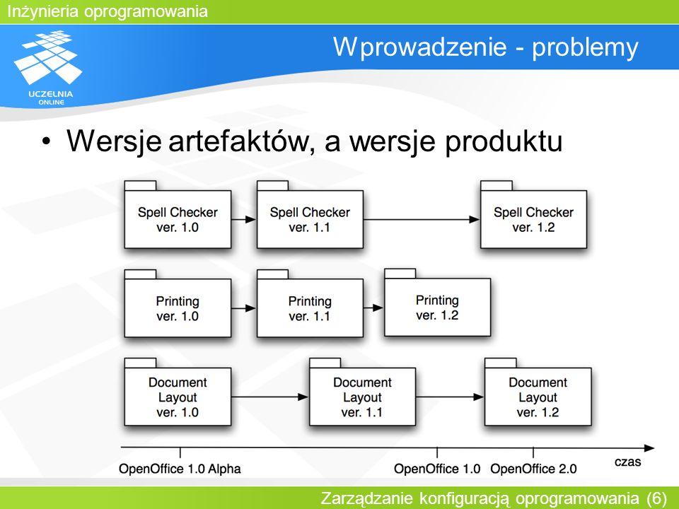 Inżynieria oprogramowania Zarządzanie konfiguracją oprogramowania (17) Linia rozwoju artefaktu
