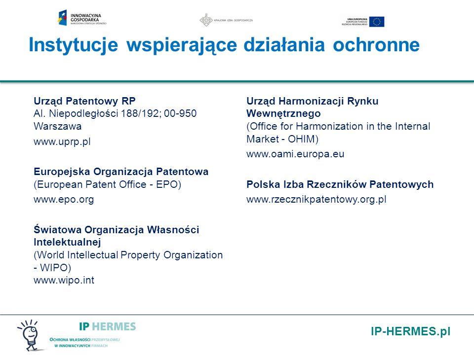 IP-HERMES.pl Urząd Patentowy RP Al. Niepodległości 188/192; 00-950 Warszawa www.uprp.pl Europejska Organizacja Patentowa (European Patent Office - EPO
