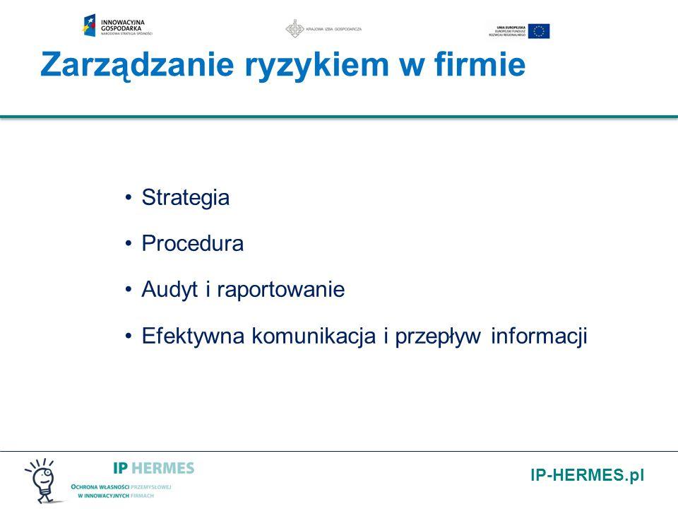 IP-HERMES.pl Strategia Procedura Audyt i raportowanie Efektywna komunikacja i przepływ informacji Zarządzanie ryzykiem w firmie
