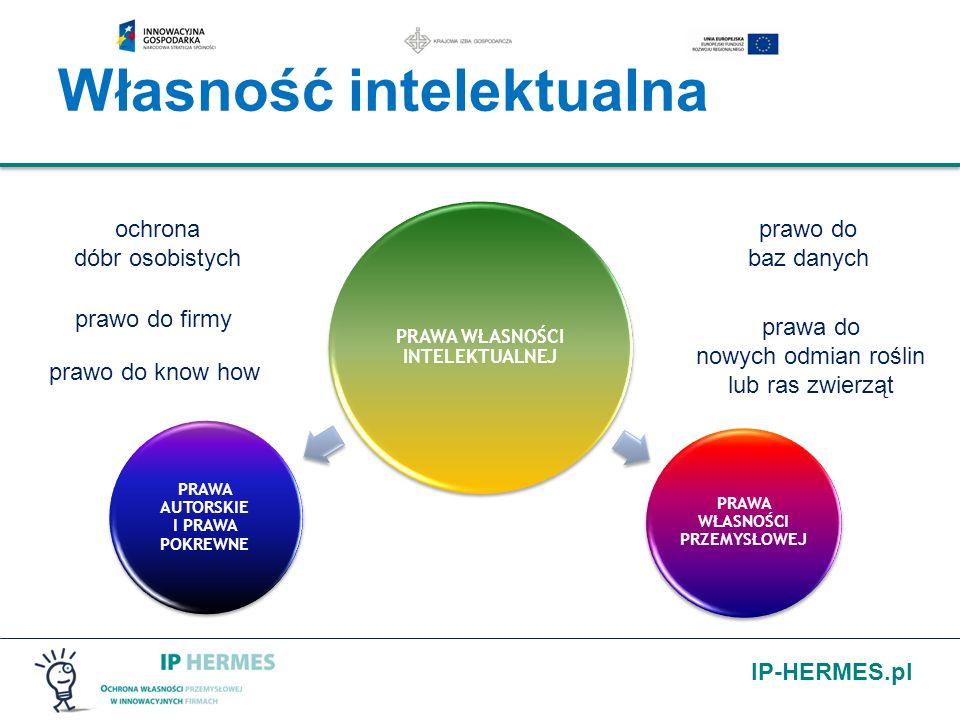 IP-HERMES.pl Własność intelektualna PRAWA WŁASNOŚCI INTELEKTUALNEJ PRAWA AUTORSKIE I PRAWA POKREWNE PRAWA WŁASNOŚCI PRZEMYSŁOWEJ ochrona dóbr osobisty