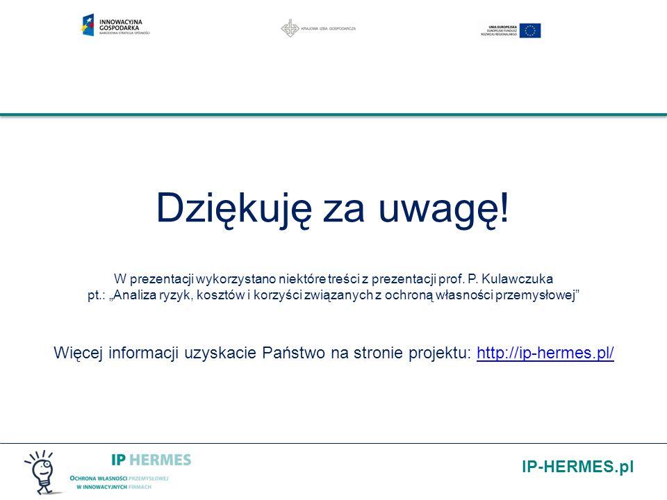 Dziękuję za uwagę! W prezentacji wykorzystano niektóre treści z prezentacji prof. P. Kulawczuka pt.: Analiza ryzyk, kosztów i korzyści związanych z oc