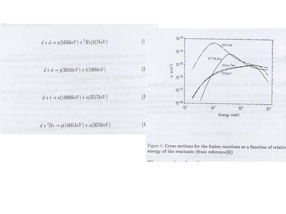 Liczba reakcji jądrowych – liczba wyemitowanych neutronów Emisyjność s –liczba reakcji przez sekundę przez jednostkę objętości średnia wartość reaktywności Dla plazmy deuterowej w stanie równowagi termodynamicznej prędkość względna