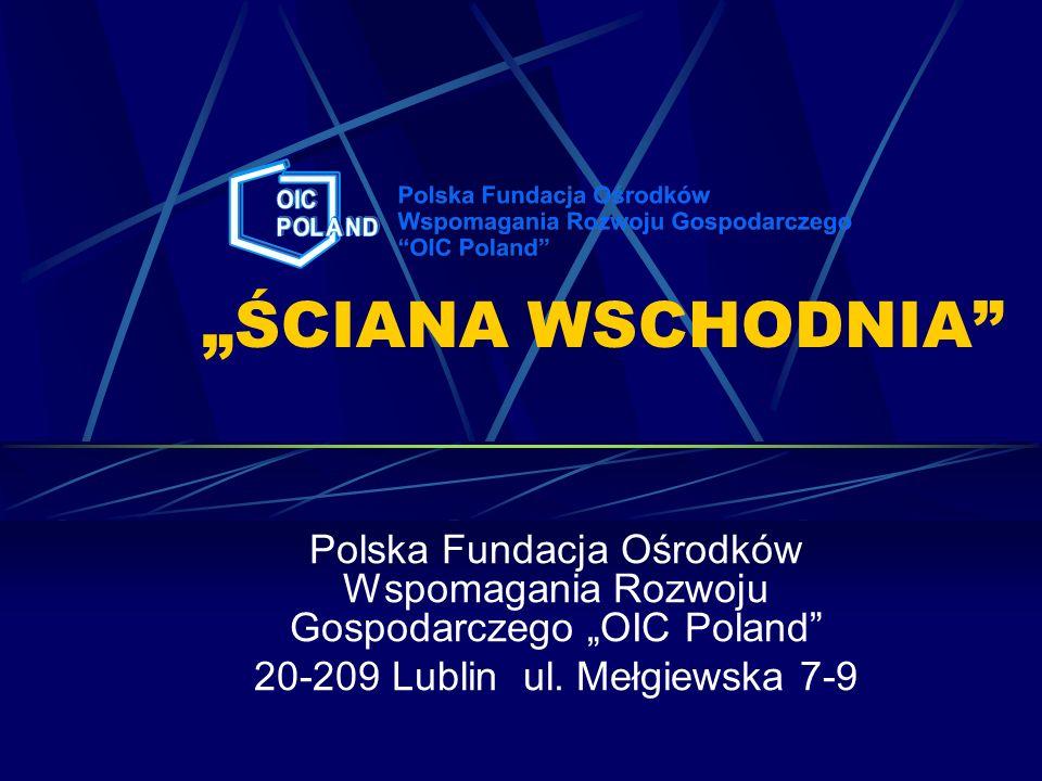 Informacje ogólne Projekt współfinansowany jest ze środków Unii Europejskiej Pomysłodawcą i wykonawcą projektu jest Polska Fundacja Ośrodków Wspomagania Rozwoju Gospodarczego OIC POLAND przy współpracy Fundacji – Agencji Rozwoju Regionalnego w Starachowicach Spotkanie prowadzi