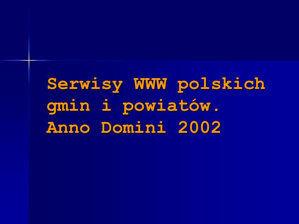 Serwisy WWW polskich gmin i powiatów. Anno Domini 2002