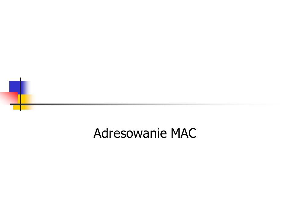 Adresowanie MAC