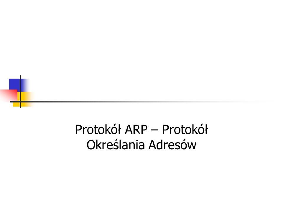 Protokół ARP – Protokół Określania Adresów