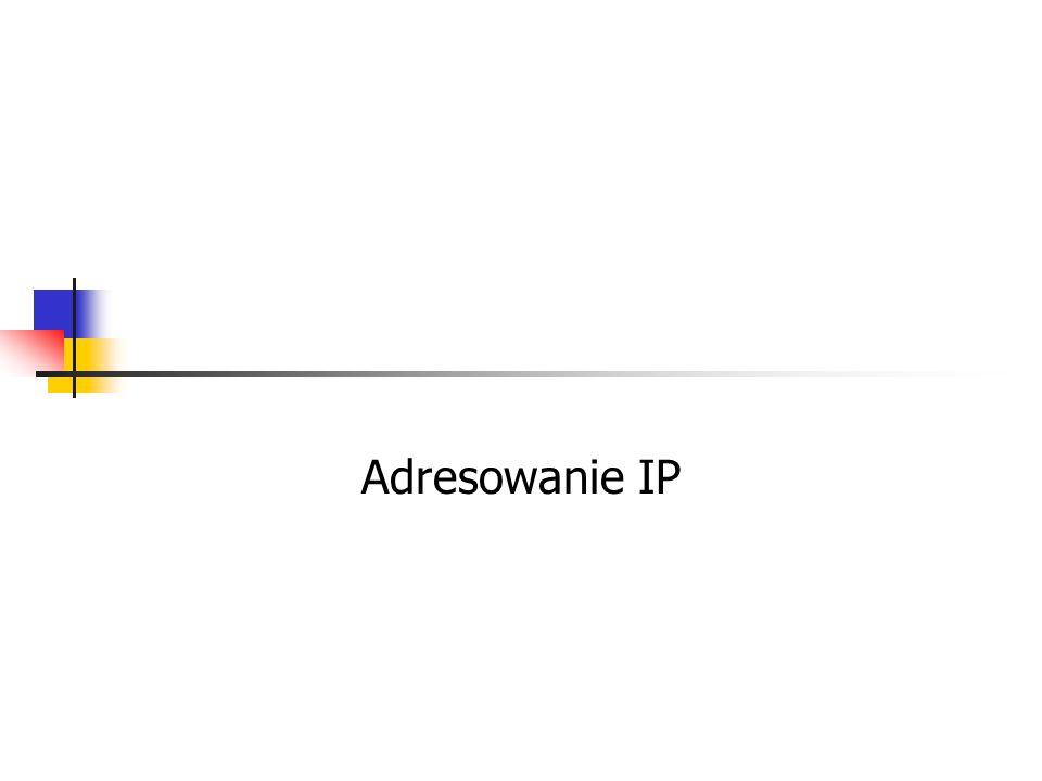 Adresowanie IP