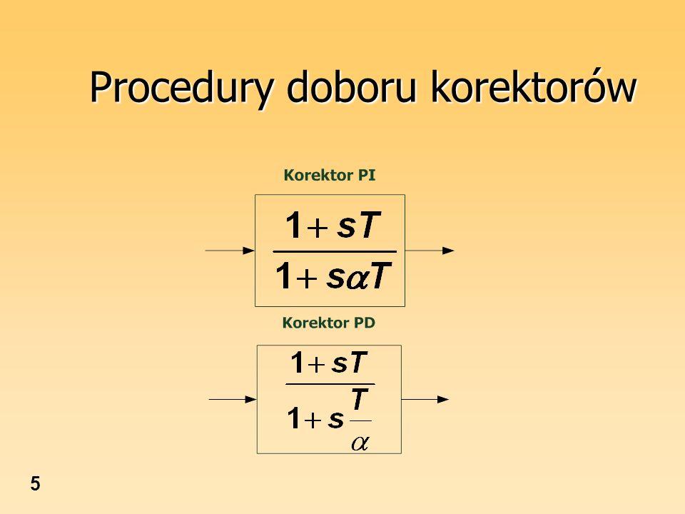 5 Procedury doboru korektorów