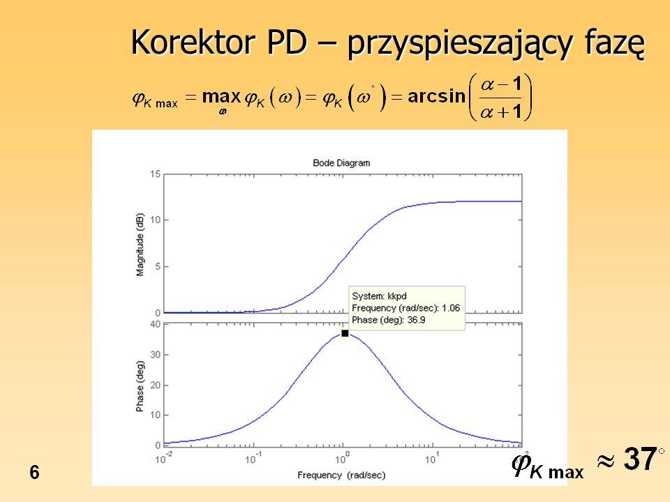 6 Korektor PD – przyspieszający fazę