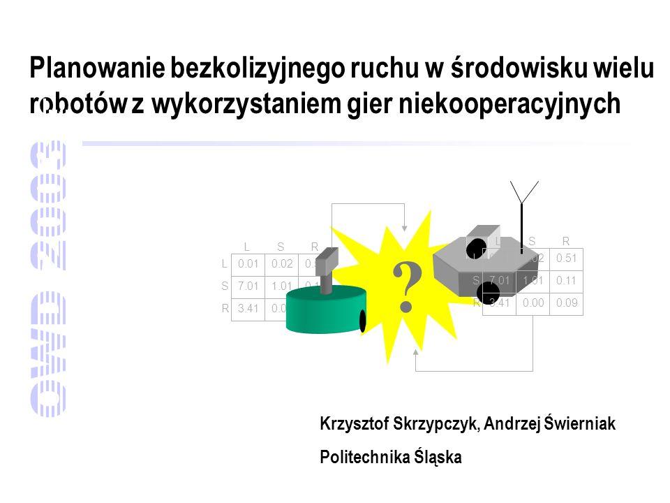 Planowanie bezkolizyjnego ruchu w środowisku wielu robotów z wykorzystaniem gier niekooperacyjnych Krzysztof Skrzypczyk, Andrzej Świerniak Politechnik