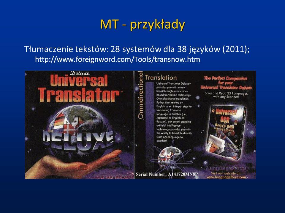 MT- przykłady cd.