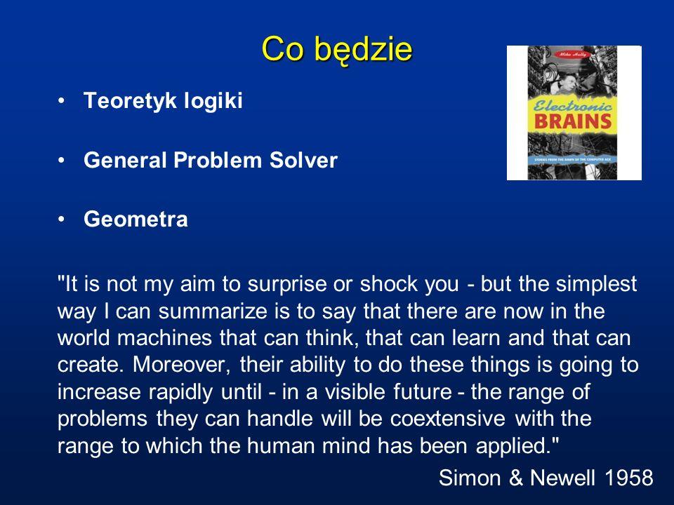 Co będzie Teoretyk logiki General Problem Solver Geometra
