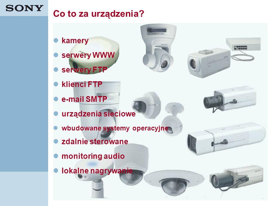 12 Co to za urządzenia? kamery serwery WWW serwery FTP klienci FTP e-mail SMTP urządzenia sieciowe wbudowane systemy operacyjne zdalnie sterowane moni