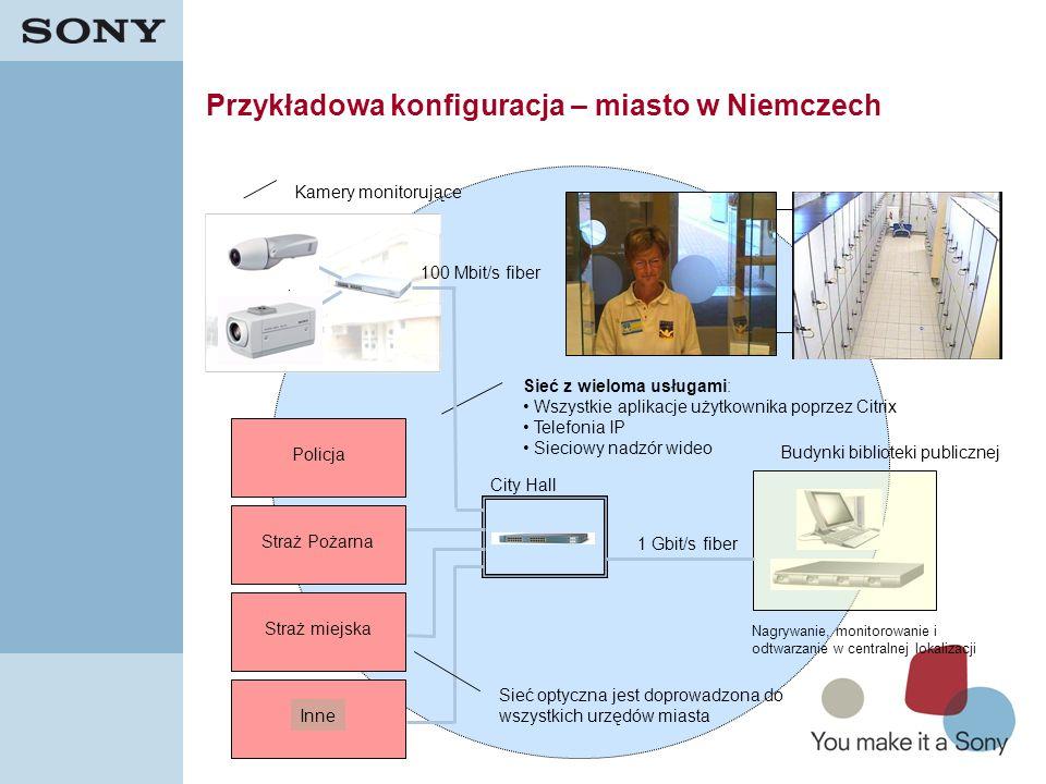 38 Przykładowa konfiguracja – miasto w Niemczech Budynki biblioteki publicznej 100 Mbit/s fiber City Hall 1 Gbit/s fiber PolicjaStraż PożarnaStraż mie