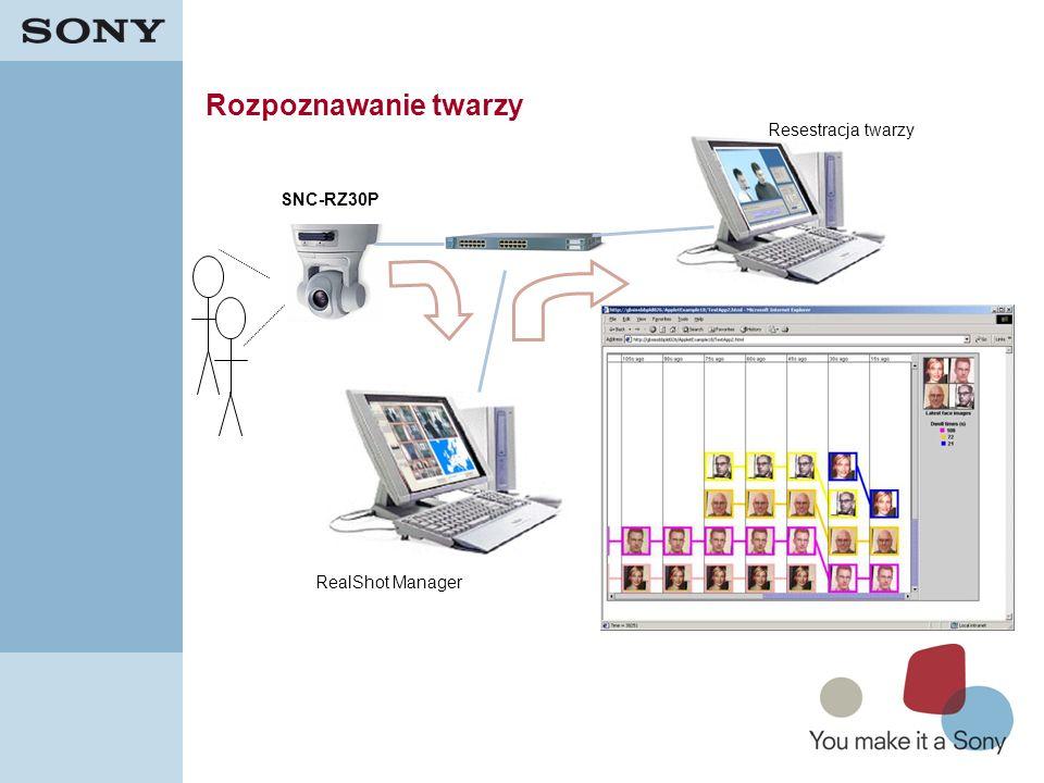 43 Rozpoznawanie twarzy SNC-RZ30P RealShot Manager Resestracja twarzy