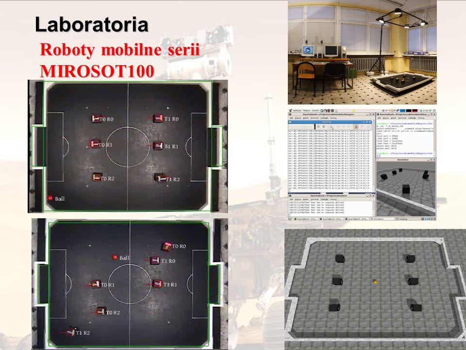 Sterowanie w czasie rzeczywistym Generowanie bezkolizyjnych trajektorii Sztuczna inteligencja Wykorzystanie informacji wizyjnej do sterowania Robot MIROSOT-100Robot eksperymentalnyRobot MINDSTORMS Planowanie zadań Techniki wieloagentowe Roboty mobilne Robot mobilny Khepera II