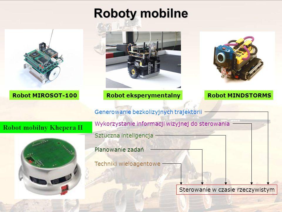 Sterowanie w czasie rzeczywistym Generowanie bezkolizyjnych trajektorii Sztuczna inteligencja Wykorzystanie informacji wizyjnej do sterowania Robot MI