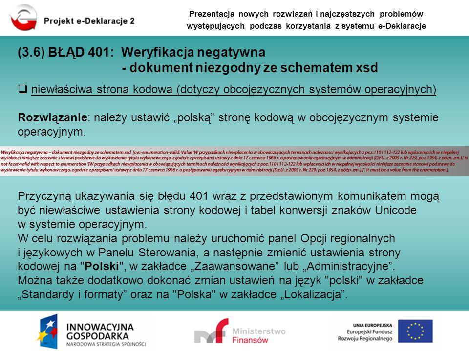 niewłaściwa strona kodowa (dotyczy obcojęzycznych systemów operacyjnych) Rozwiązanie: należy ustawić polską stronę kodową w obcojęzycznym systemie ope