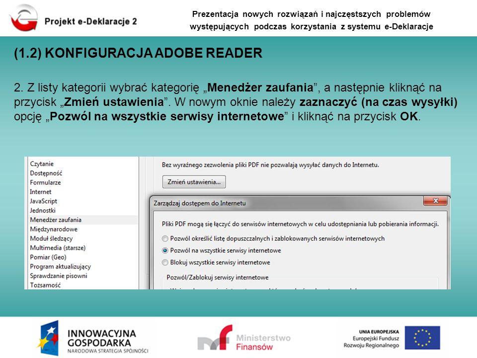 Prezentacja nowych rozwiązań i najczęstszych problemów występujących podczas korzystania z systemu e-Deklaracje Część 3 - Najczęściej występujące błędy i problemy