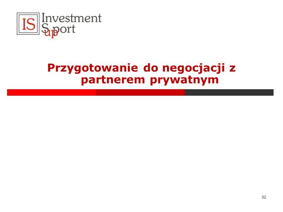 Przygotowanie do negocjacji z partnerem prywatnym 32