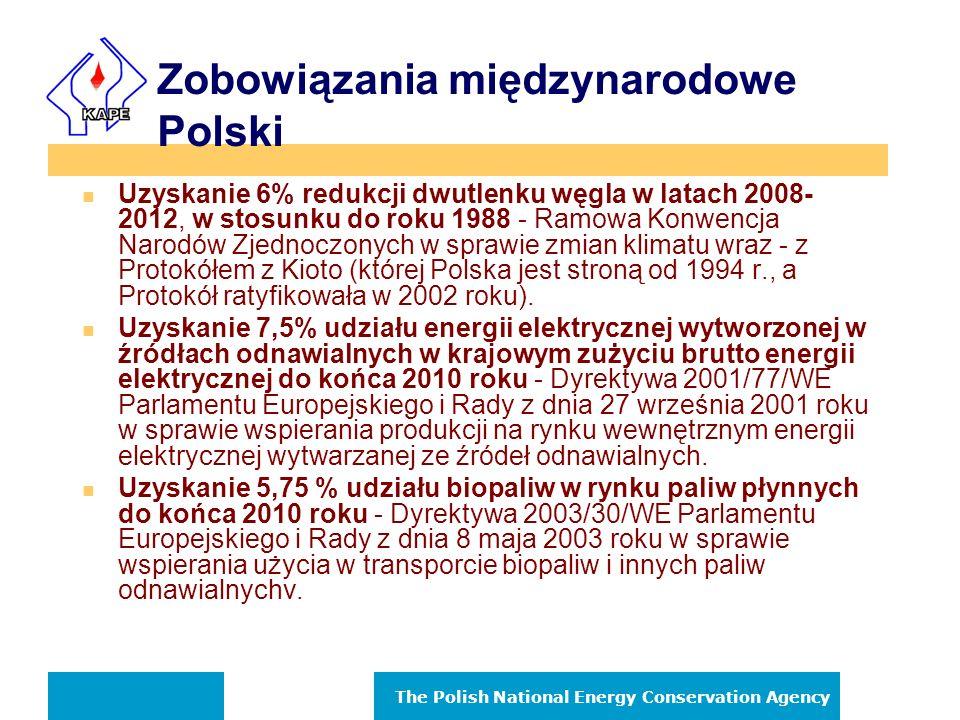The Polish National Energy Conservation Agency Krajowa Agencja Poszanowania Energii S.A.