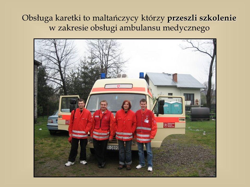 przeszli szkolenie Obsługa karetki to maltańczycy którzy przeszli szkolenie w zakresie obsługi ambulansu medycznego