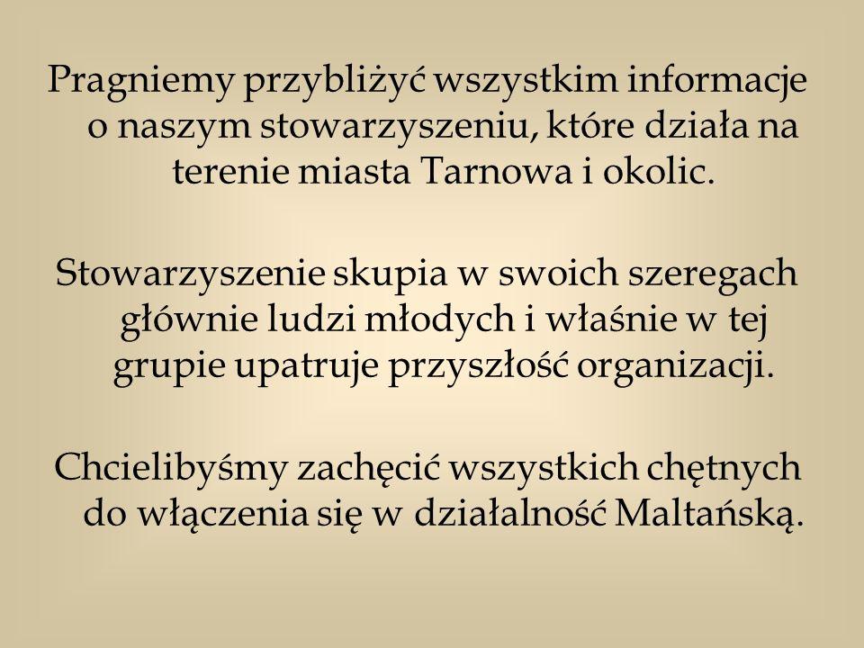 Pragniemy przybliżyć wszystkim informacje o naszym stowarzyszeniu, które działa na terenie miasta Tarnowa i okolic. Stowarzyszenie skupia w swoich sze
