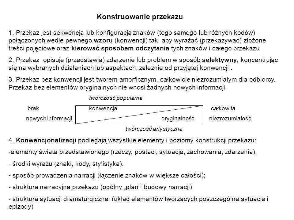 1. Przekaz jest sekwencją lub konfiguracją znaków (tego samego lub różnych kodów) połączonych wedle pewnego wzoru (konwencji) tak, aby wyrażać (przeka