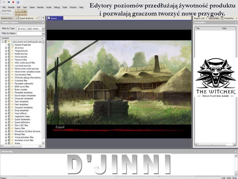 Edytory poziomów przedłużają żywotność produktu i pozwalają graczom tworzyć nowe przygody.