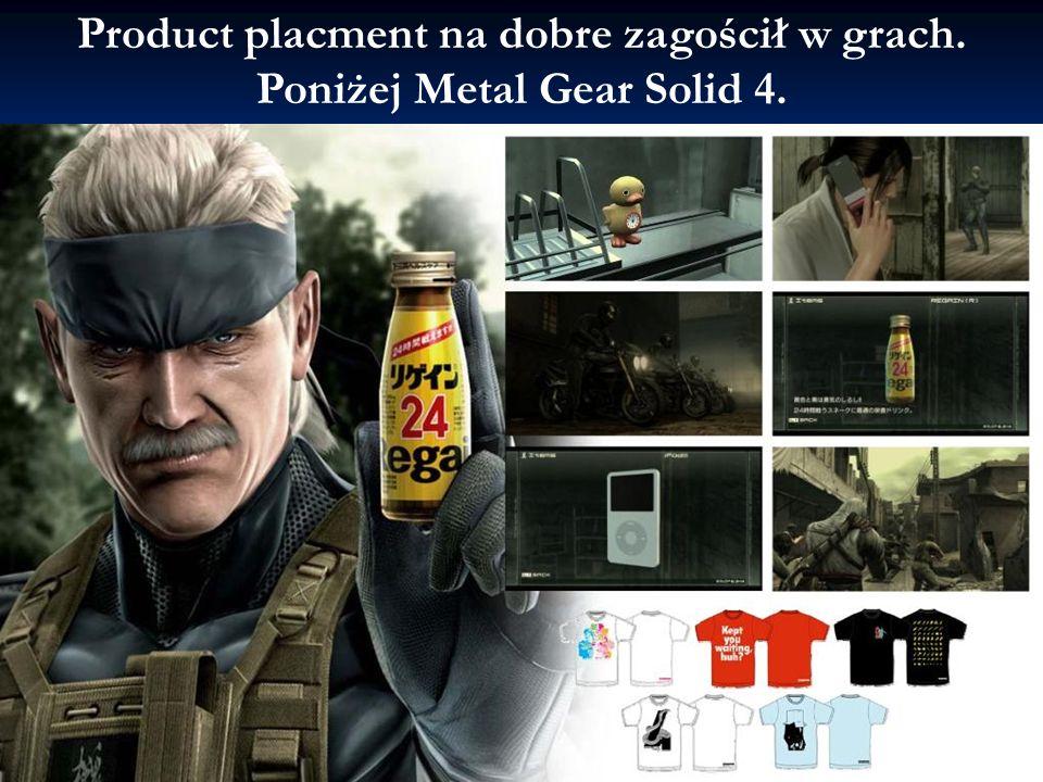 Product placment na dobre zagościł w grach. Poniżej Metal Gear Solid 4.
