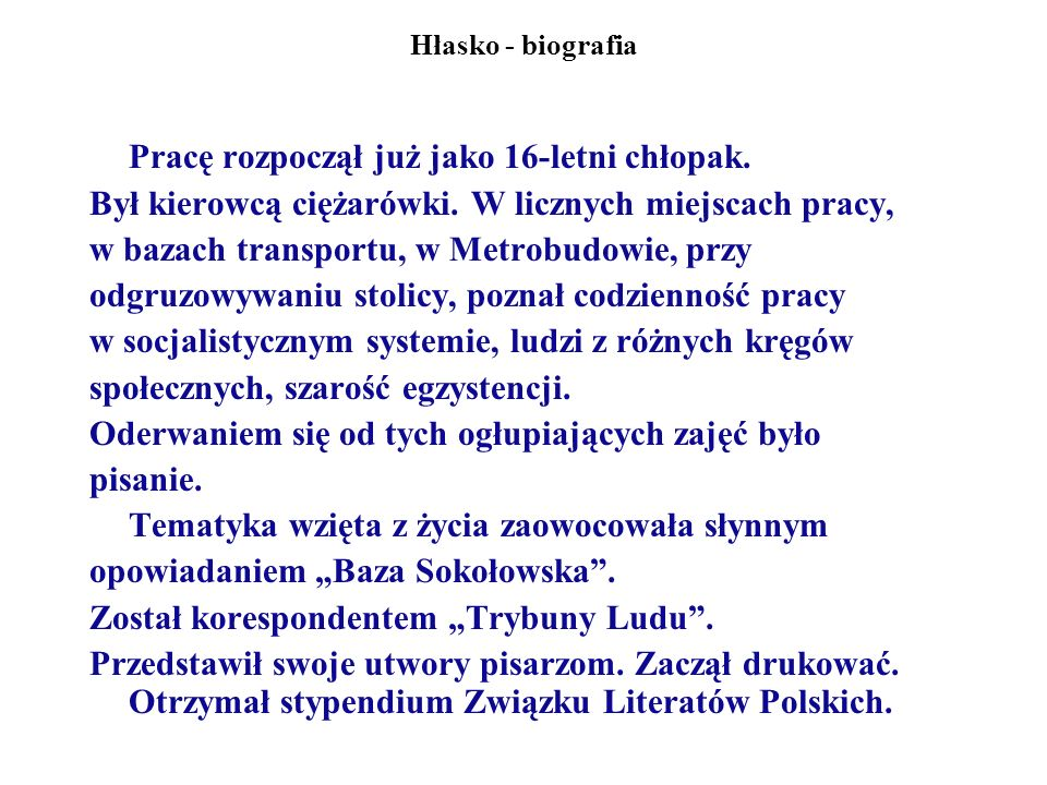 Poetyka opowiadań M.