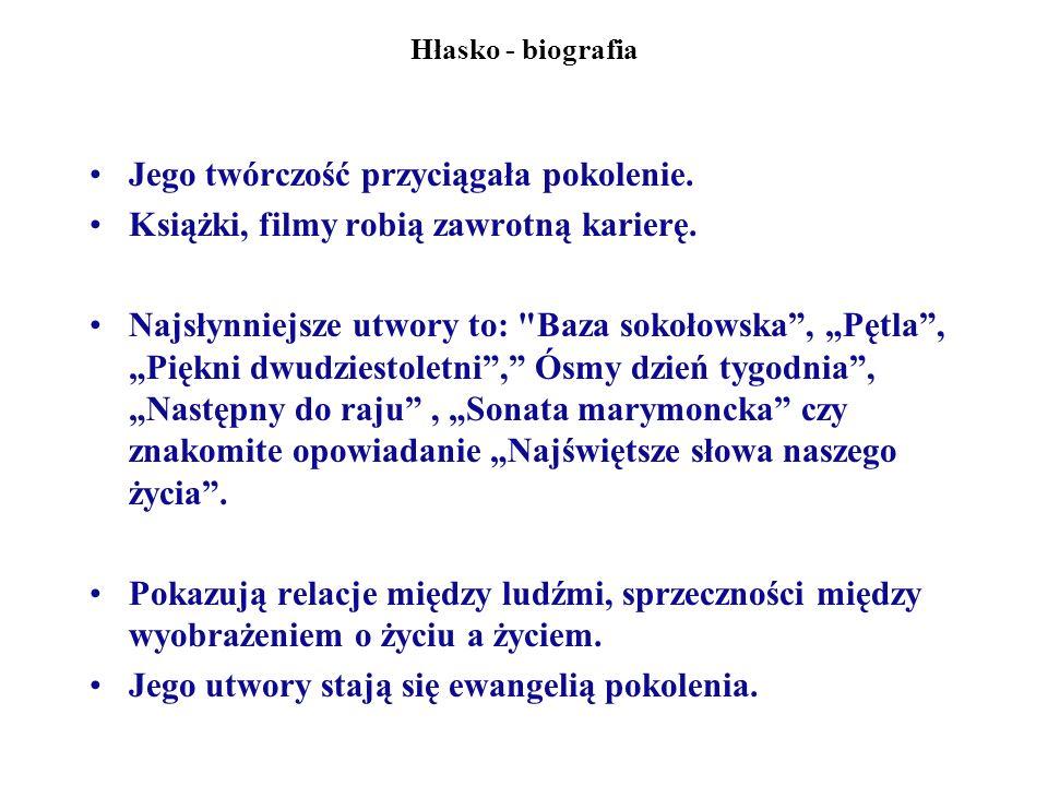 Hłasko - biografia Marek Hłasko żył w sposób szalony.