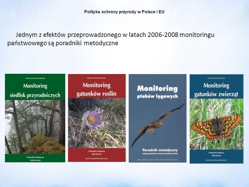 Polityka ochrony przyrody w Polsce i EU Jednym z efektów przeprowadzonego w latach 2006-2008 monitoringu państwowego są poradniki metodyczne