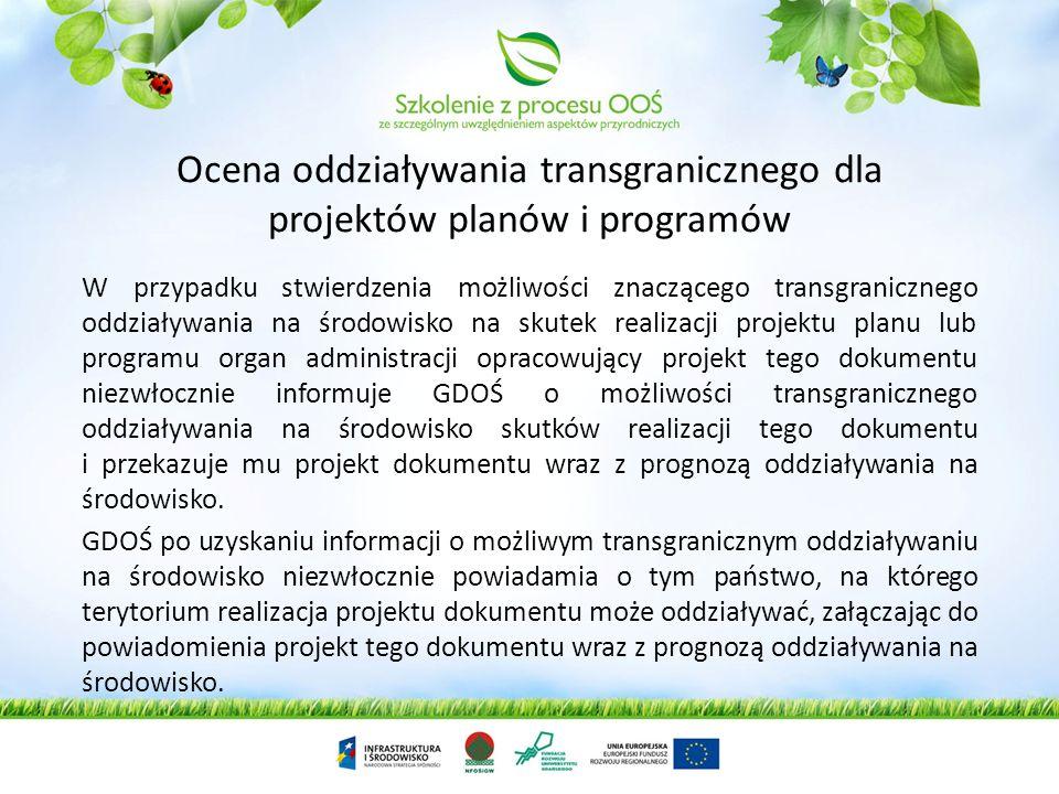 Uwagi i wnioski złożone przez państwo uczestniczące w postępowaniu w sprawie transgranicznego oddziaływania na środowisko, w tym wyniki konsultacji (p