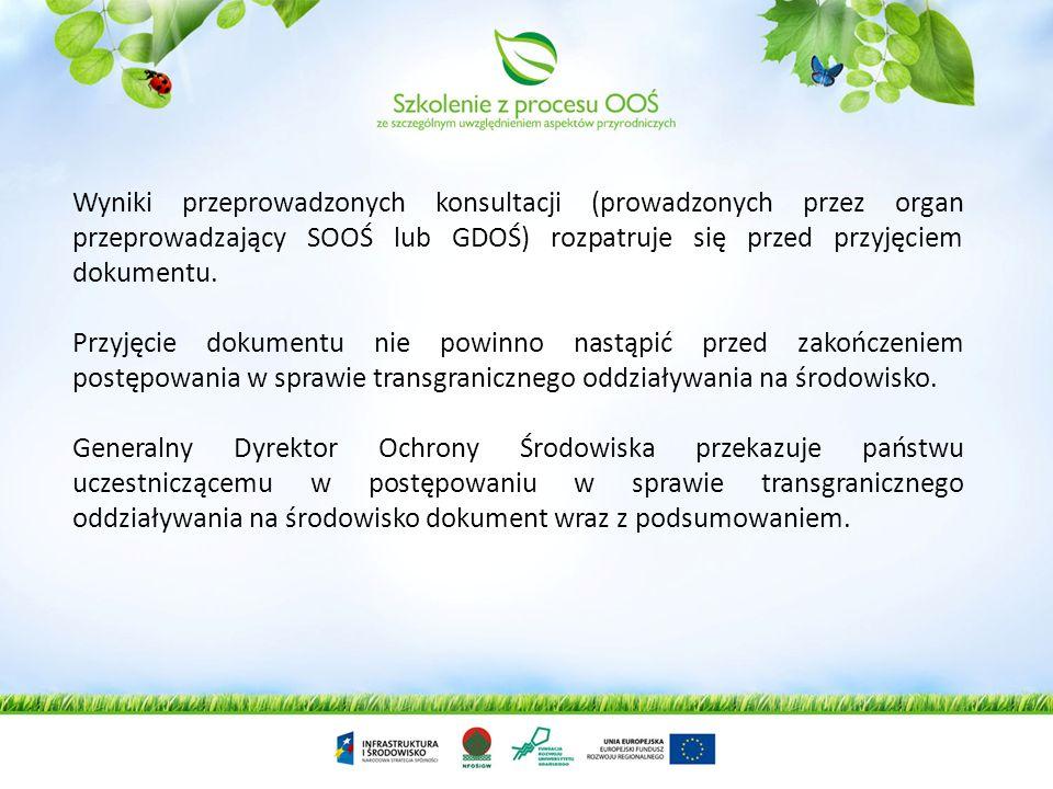 Generalny Dyrektor Ochrony Środowiska w powiadomieniu o możliwym transgranicznym oddziaływaniu na środowisko proponuje termin na odpowiedź, czy państw