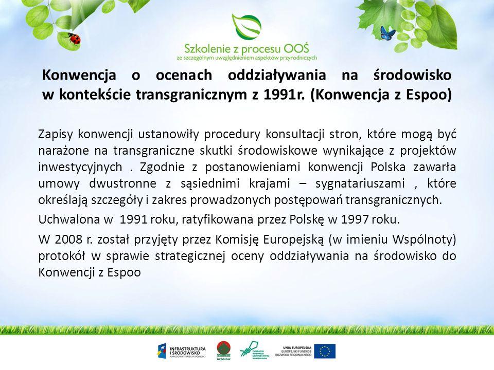 Konwencja o kontroli transgranicznego przemieszczania i usuwania odpadów niebezpiecznych z 1989 roku (Konwencja Bazylejska). Przedmiotem Konwencji jes