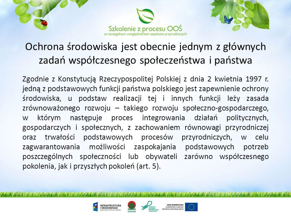 Zarządzanie środowiskiem, Geneza powstania Ocen Oddziaływania na Środowisko Informacje wprowadzające do OOŚ, rozwój idei OOŚ