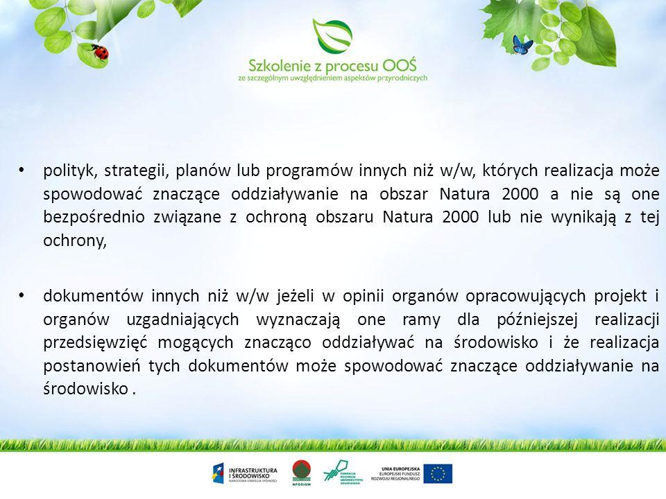 Strategiczna ocena oddziaływania na środowisko (SOOŚ) – jej przeprowadzenia wymagają projekty: koncepcji przestrzennego zagospodarowania kraju, studiu